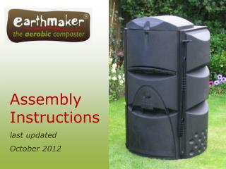 Assembly Instructions last updated  October 2012