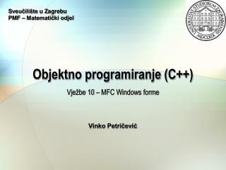 Objektno programiranje (C++)