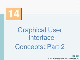 Graphical User Interface Concepts: Part 2