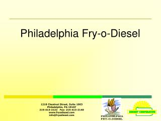 Philadelphia Fry-o-Diesel