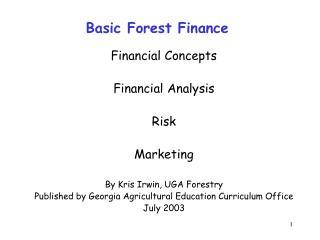Basic Forest Finance
