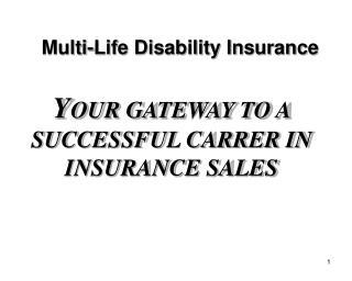 Multi-Life Disability Insurance