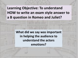 What did we say was important in helping the audience to understand the actors emotions?