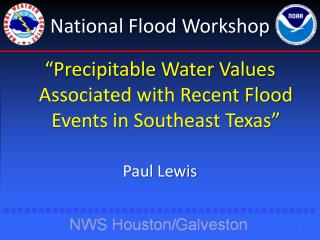National Flood Workshop