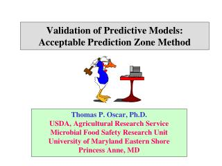Validation of Predictive Models:  Acceptable Prediction Zone Method