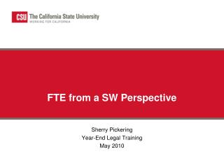 FTE from a SW Perspective