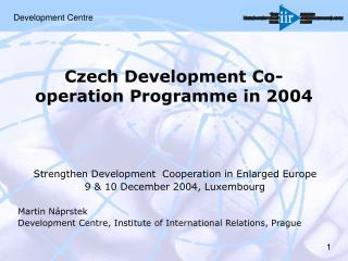 Czech  Development Co-operation Programme in 2004