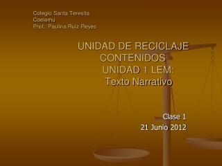 Clase 1  21 Junio 2012