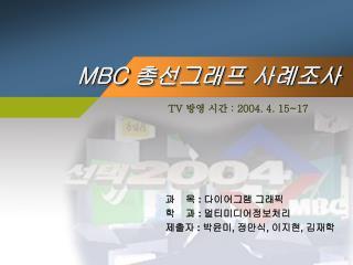 MBC  총선그래프 사례조사