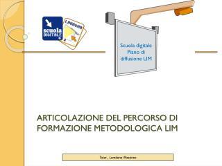 ARTICOLAZIONE DEL PERCORSO  DI  FORMAZIONE METODOLOGICA LIM