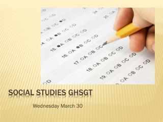 Social Studies GHSGT
