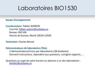 Laboratoires BIO1530