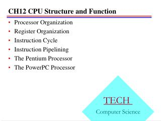 CH12 CPU Structure and Function