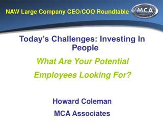 NAW Large Company CEO/COO Roundtable