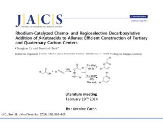 Rhodium-Catalyzed Chemo- and Regioselective Decarboxylative Addition of  β -