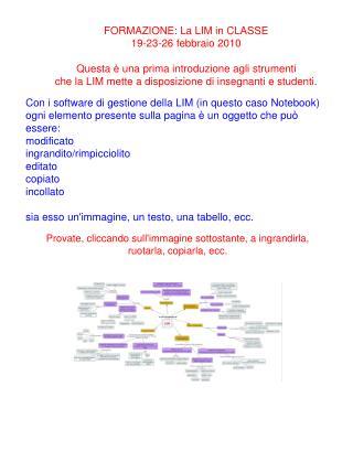 Con i software di gestione della LIM (in questo caso Notebook)