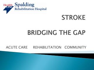 STROKE BRIDGING THE GAP
