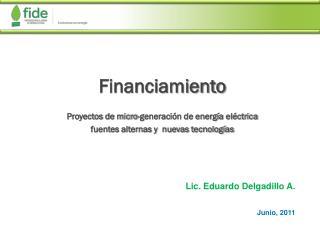 Financiamiento Proyectos de micro-generación de energía eléctrica