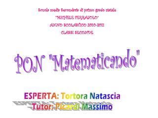 """PON """"Matematicando"""""""