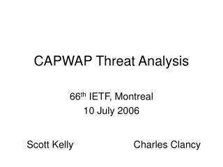 CAPWAP Threat Analysis