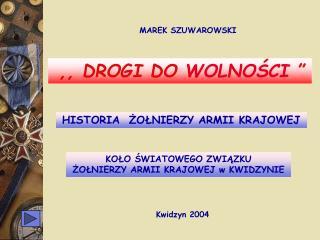 MAREK SZUWAROWSKI