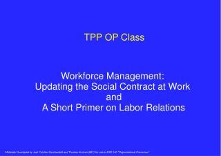 TPP OP Class