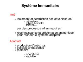 Syst�me Immunitaire