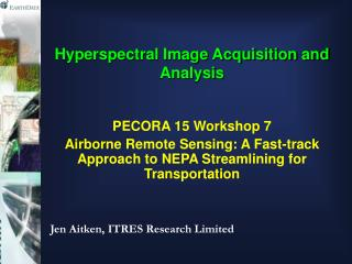 Hyperspectral Image Acquisition and Analysis
