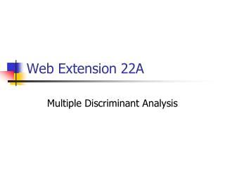 Web Extension 22A