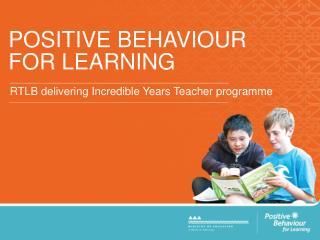 POSITIVE BEHAVIOUR FOR LEARNING
