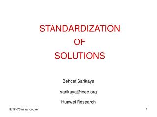 STANDARDIZATION  OF  SOLUTIONS
