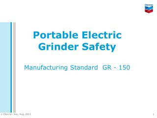 Portable Electric Grinder Safety Manufacturing Standard  GR - 150
