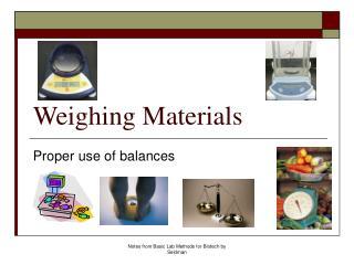 Weighing Materials