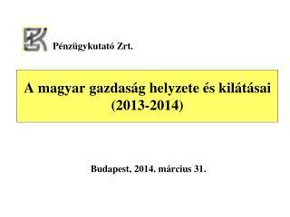 A magyar gazdaság helyzete és kilátásai (2013-2014)