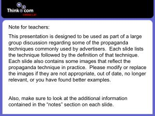 Note for teachers: