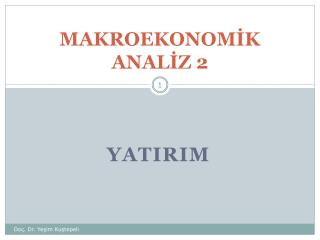 MAKROEKONOMİK ANALİZ 2