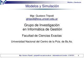 Modelos y Simulación