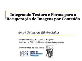 Integrando Textura e Forma para a Recuperação de Imagens por Conteúdo