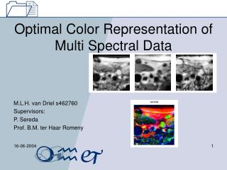 Optimal Color Representation of Multi Spectral Data