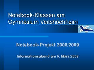 Notebook-Klassen am Gymnasium Veitshöchheim