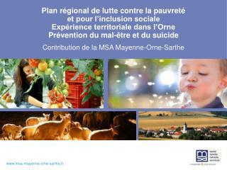 Contribution de la MSA Mayenne-Orne-Sarthe