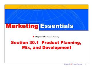 Marketing  Essentials