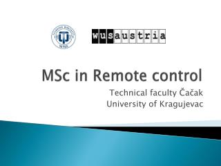 MSc in Remote control