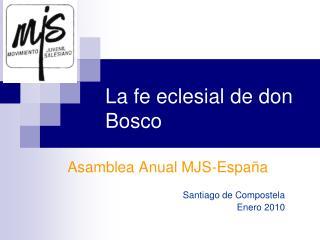 La fe eclesial de don Bosco