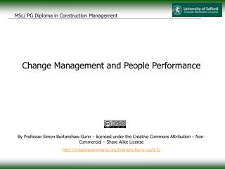 Change Management and People Performance