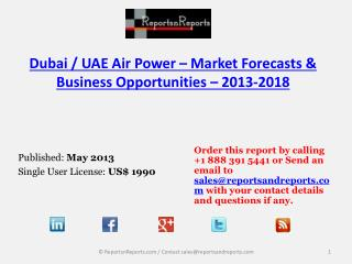 2018 Forecasts to UAE Air Power Market Trends and Developmen
