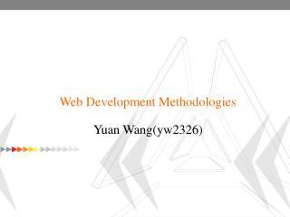 Web Development Methodologies