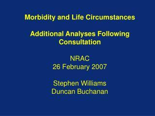 Consultation Recommendations