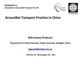 Accessible Transport Practice in China