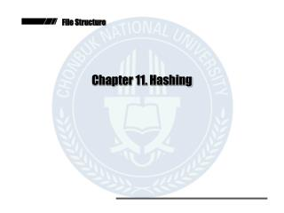 Chapter 11. Hashing